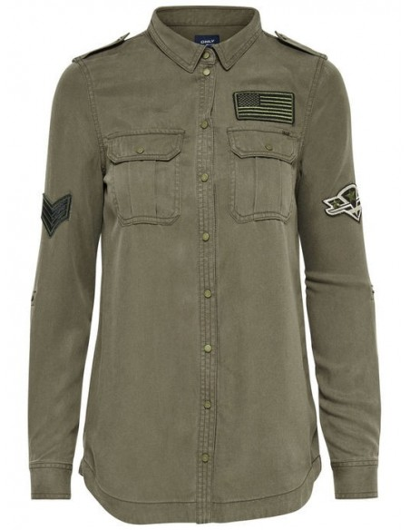 Onlnevada lyocell patch shirt pnt