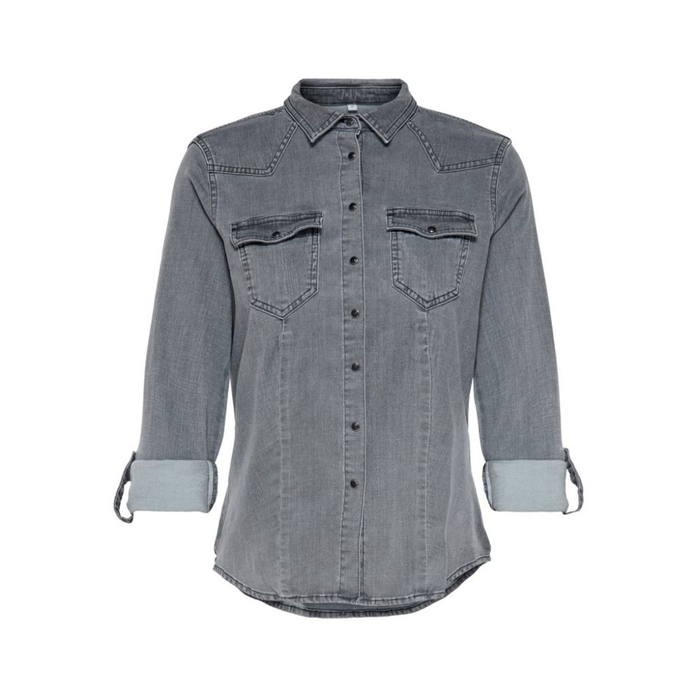 Onlrockit life denim ls shirt bb  qyt
