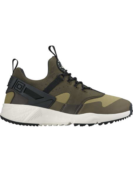 Men's nike air huarache utility shoe trooper/sail-cargo khaki-black