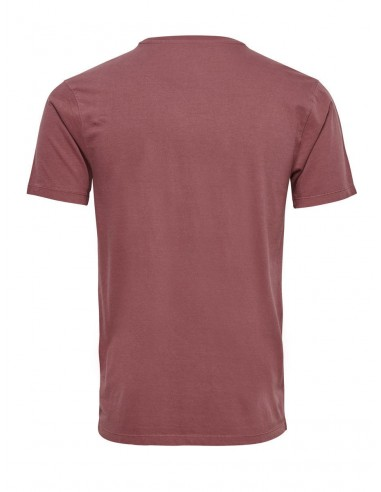 Onskanta organic fitted tee col rond rouge