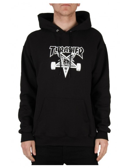 Thrasher sweat hood skate goat black