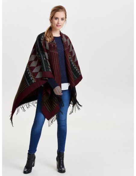 Onlorlena weaved poncho Only rouge