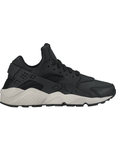 Women's nike air huarache run premium shoe - black