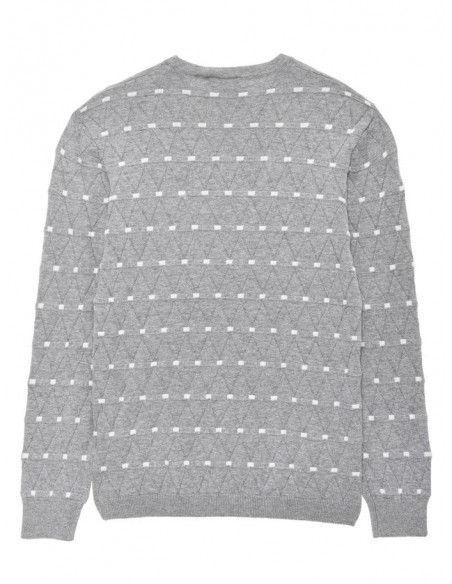 Nithinus ls knit oneck lmtd maille gris
