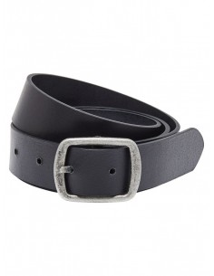 ceinture cuir Onlbeach leather belt noos noir