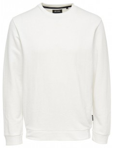 sweat Only & sons Onsnew finlo crew neck blanc