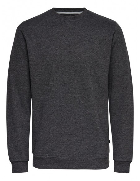 sweat Only & sons Onsnew finlo crew neck gris fonce
