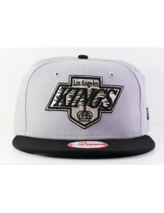 casquette visiere plate Nhl cotton block loskin grey/black gris