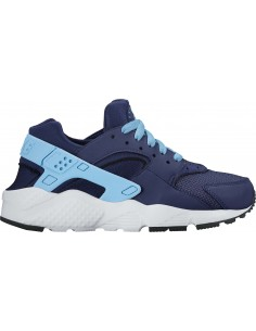 basket Nike Girls' nike huarache run (gs) shoe bleu 654280-405