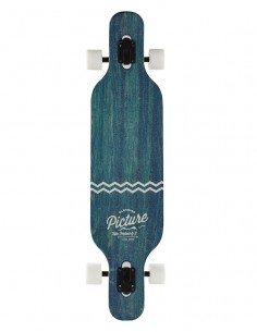 Picture planche complete Angus longboard bleu