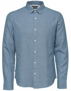 Onsrasmus ls shirt chemise homme Only&Sons bleu