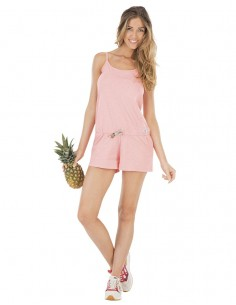 Poppy combi short femme Picture rose