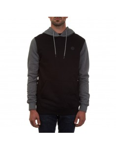 sweat homme Volcom noir Sngl stn clrblk p/o