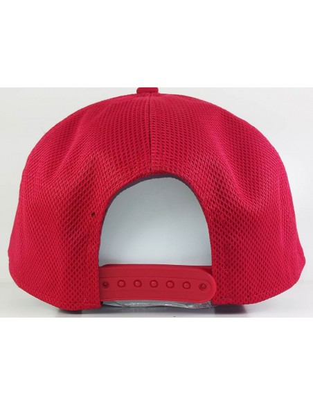 casquette courbe Newera rouge Mlb - cut out mesh neyyan sca