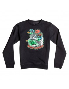 sweat enfant DC noir Mr tank crew boy