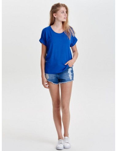 top femme Only bleu Onlmoster s/s o-neck top noos jrs