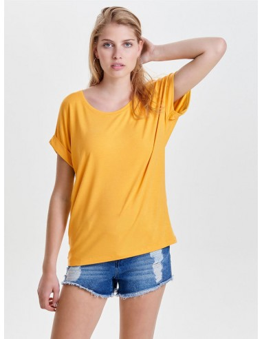 tee-shirt femme Only jaune Onlmoster s/s o-neck top noos jrs