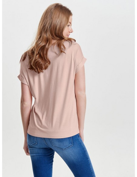 top femme Only rose Onlmoster s/s o-neck top noos jrs
