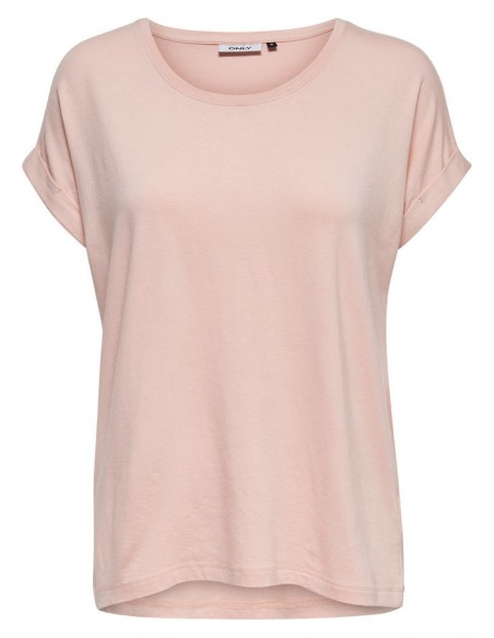 t-shirt femme Only rose Onlmoster s/s o-neck top noos jrs