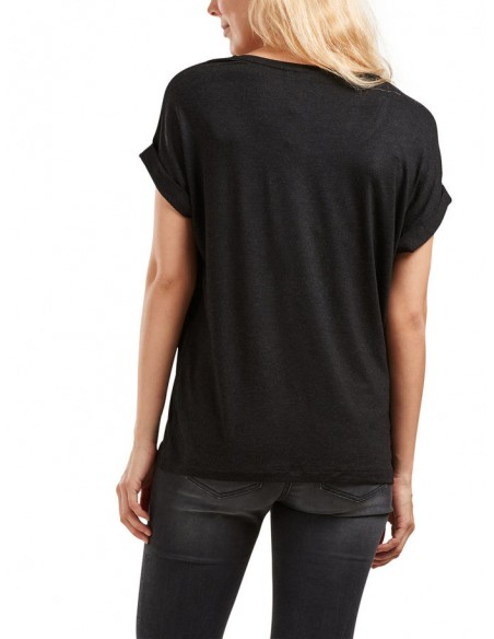 top Only noir Onlmoster s/s o-neck top noos jrs