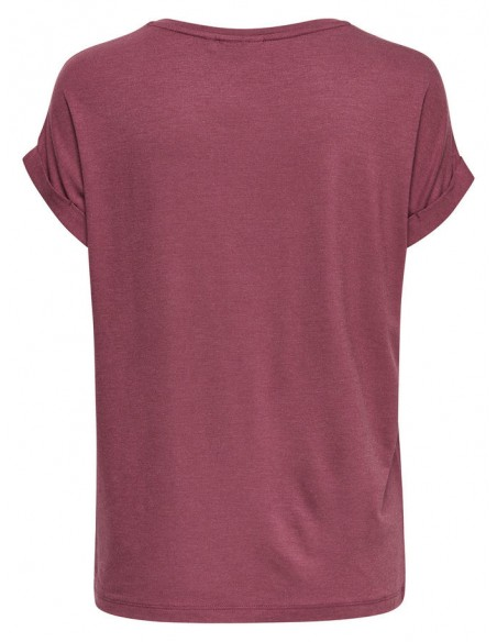 top femme Only aubergine Onlmoster s/s o-neck top noos jrs