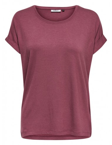 top Only aubergine Onlmoster s/s o-neck top noos jrs