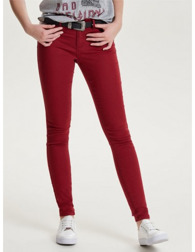 skinny femme Only rouge ONLRAIN REG SK NEW COLOUR PANT PNT NOOS