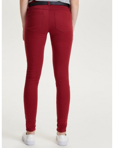 jean's skinny femme Only rouge ONLRAIN REG SK NEW COLOUR PANT PNT NOOS