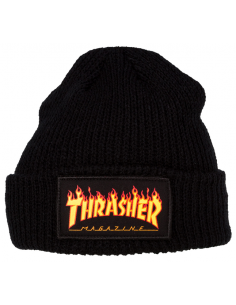 Thrasher beanie flame logo black