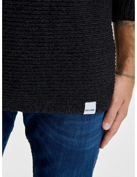 pull Only&Sons noir Onssato multi clr knit noos