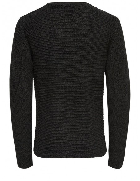 pull grosse maille homme Only&Sons noir Onssato multi clr knit noos