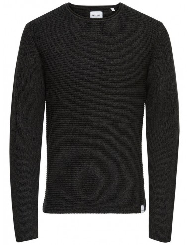 pull homme Only&Sons noir Onssato multi clr knit noos
