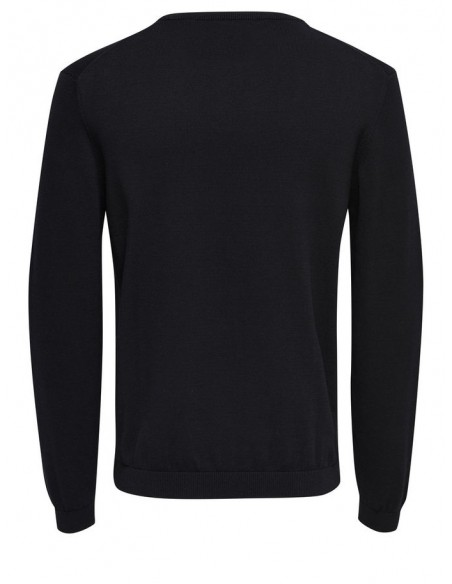 pull fin  homme Only&Sons noir ONSALEX CREW NECK KNIT NOOS