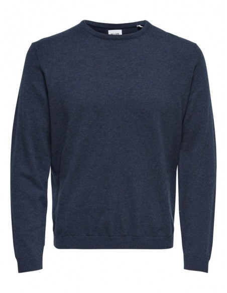 pull homme Only&Sons bleu ONSALEX CREW NECK KNIT NOOS