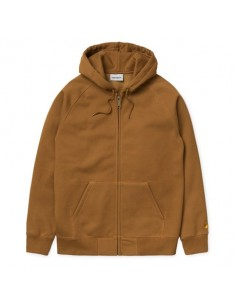 HOODED CHASE JACKET marron