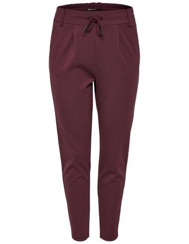 pantalon femme Only bordeaux Onlpoptrash easy colour pant pnt noos