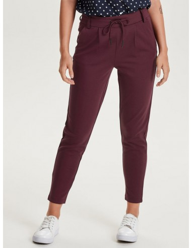 pantalon femme bordeaux Onlpoptrash easy colour pant pnt noos