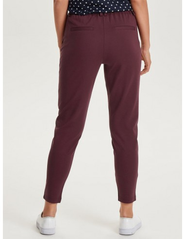 pantalon stylé femme Only bordeaux Onlpoptrash easy colour pant pnt noos