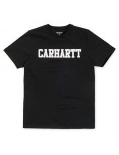 S/s college t-shirt noir