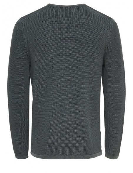pull maille Only&Sons gris foncé Onshugh line crew knit