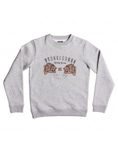 sweat enfant DCSHOES gris Surrender never crew boy