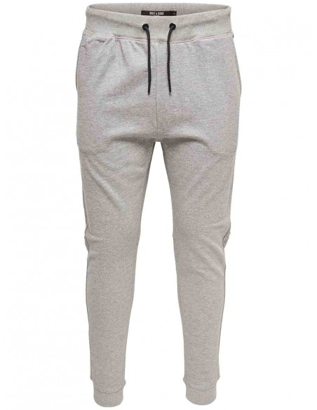 pantalon homme Only&Sons gris Onsfiske sweat pants brushed noos