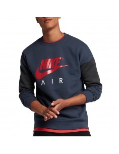 sweat homme Nike Bleu Men's nike air crew 861622-471