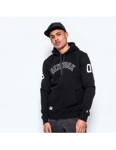 sweat capuche homme New Era noir East coast po hoody new york yankees black