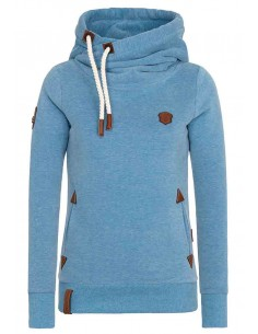 sweat capuche femme Nakenato Darth x bleu clair