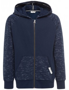 sweat zippé capuche enfant Name It bleu Nitkalman bru swe card w. hood m nmt
