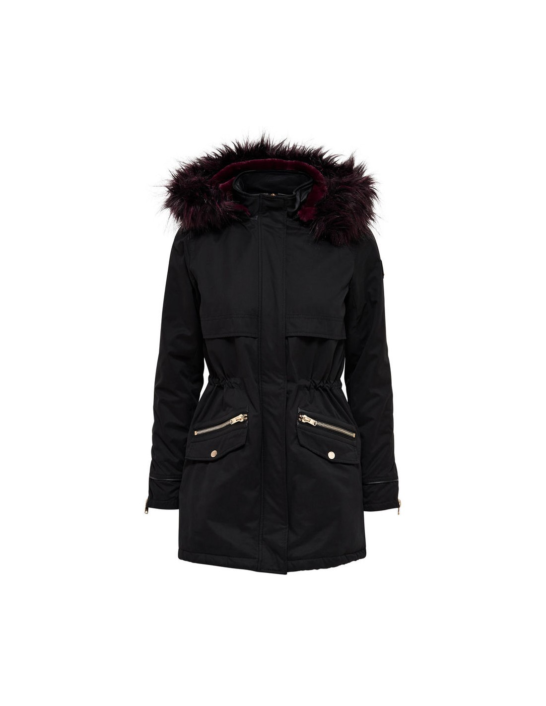 2c8d98a7b Veste ONLY - Onlcamilla fur parka otw Black, - Ultimate