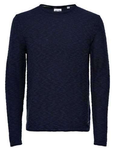 pull homme Only&Sons bleu Onsaldin multicolor knit noos