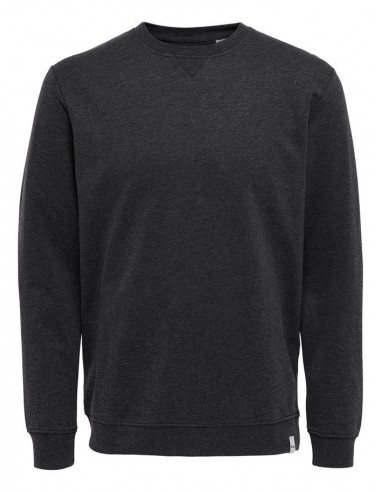 sweat homme Only&Sons noir Onsmichael crew neck sweat