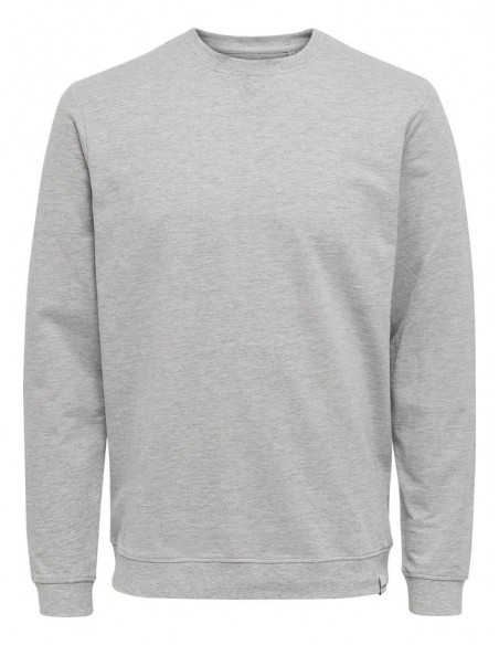 sweat homme Only&Sons gris Onsmichael crew neck sweat